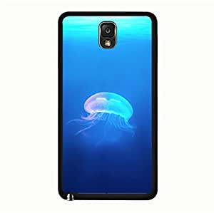 Samsung Galaxy Note 3 N9005 3D Phone Case Hardwearing Mark Cover Back Snap on Samsung Galaxy Note 3 N9005 Glowing Jellyfish Pattern Mobile Shell