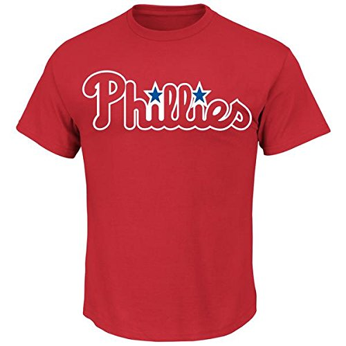 Philadelphia Phillies Youth XL Wicking MLB Licensed Authentic Replica Crewneck T-Shirt