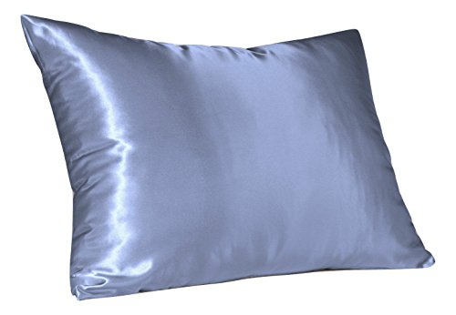 Sweet Dreams - Blissford 2-Pack Luxury Satin Pillowcase with Zipper, Queen Size, Jewel Blue (Silky Satin Pillow Case for Hair) By Shop - Shop Luxury