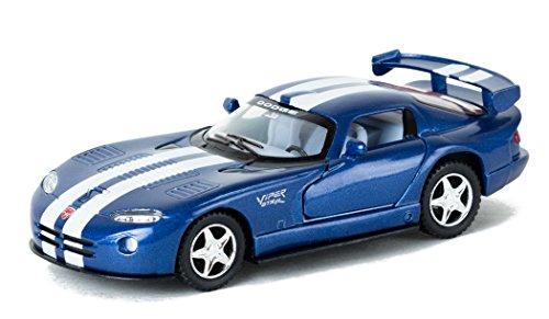 KiNSMART 1997 Dodge Viper Racing Stripes 5 inch Model Die Cast Car Blue White