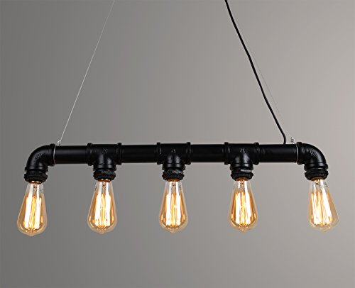 Permo Industrial Steampunk Straight Chandelier product image