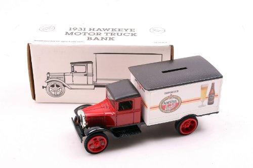 ertl-die-cast-truck-model-9358-1931-hawkeye-box-truck-bank-with-amstel-beer-logo-1-34th-scale