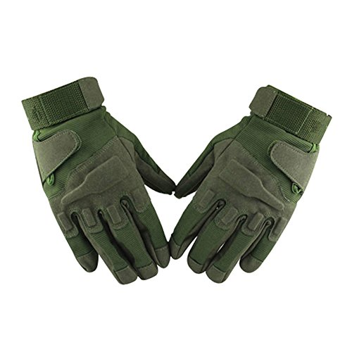 Gloves - TOOGOO(R) Motorcycle Gloves Full Finger Airsoft Combat Gloves M army green