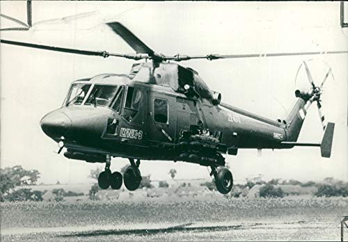 Vintage photo of Lynx helicopter:the 2 million westland lynx 3 helicopter.