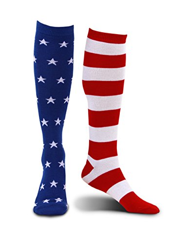 Mismatched Knee High 4th of July Socks by (4th Of July Costumes)