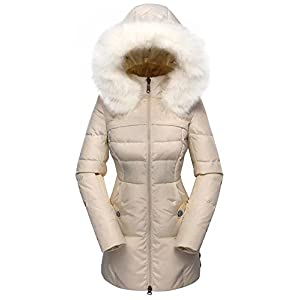 914cb3a8bd069 Beinia Valuker Women's Down Coat with Fur Hood with 90% Down Parka Puffer  Jacket