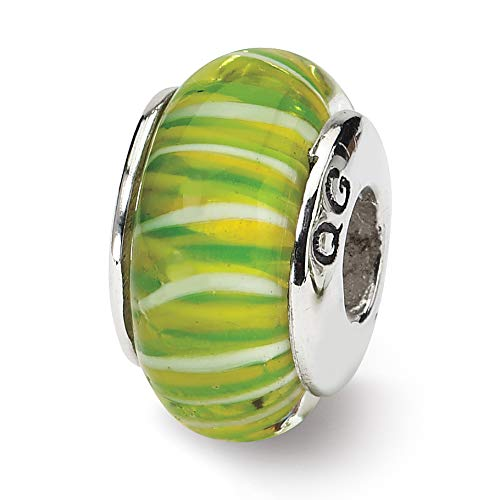 Prerogatives Sterling Green Glass Bead