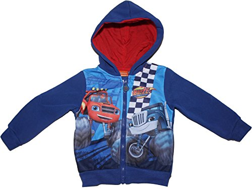 Blaze and The Monster Machines Zoom Panel Hooded Jumper Blue 6-8 Years