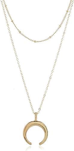 Fashion Crescent Moon Star Boho Choker Bib Statement Choker Necklace Pendant