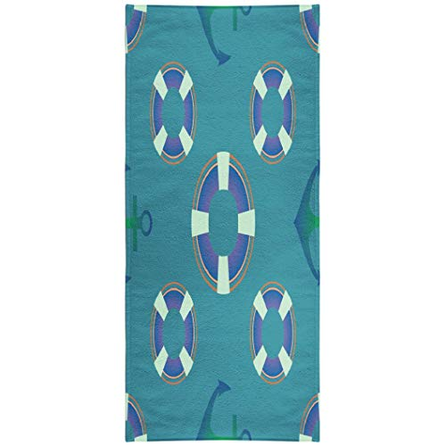 - Soopat Beach Towel,Marine Theme with and Anchor Backdrop Bundle Clothing Color Festive Funky Harbour 30x60 Inch s Sand Free Beach Blanket for Travel Sports Beach Yoga Water Park