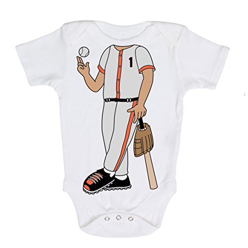San Francisco Heads Up! Baseball Baby Onesie (6 months)