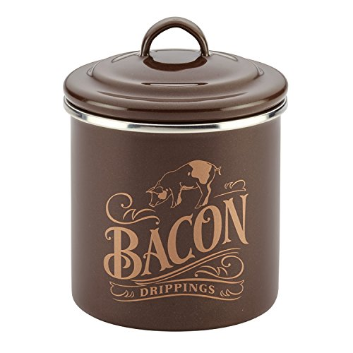 Ayesha Curry 46950 Enamel on Steel Bacon Grease Can, 4