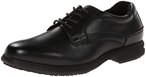 Nunn Bush Men's Sherman Slip-Resistant Work Shoe Oxford,7 M US,Black