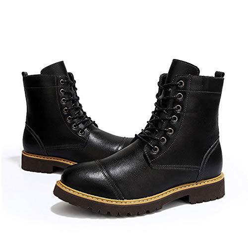 Stivali Lace Militare Combattere Sport Tattico Boots Desert Lavoro Uomini Top Up Campeggio Shoes Martin Leather Escursionismo Aperta All'aria High Black Esercito tqOq6fAw