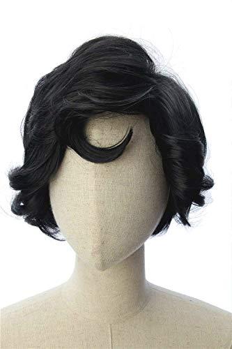 CosplayWigsCom: Ernesto De La Cruz of Movie Coco Inspired Short Black Wavy Wig Anime Cosplay Halloween Costume Wig for Men and -