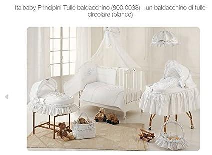e335c73e34 Italbaby 800.0038B Velo Giroletto in Tulle con Asta, bianco argento  principini
