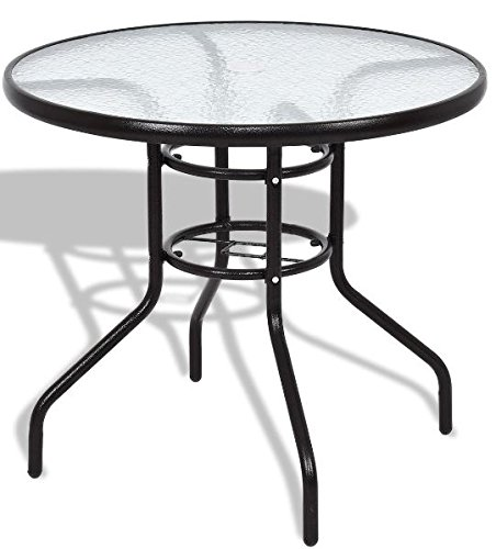 K&A Company Outdoor Dining Patio Square Table Glass Steel Vintage Chippendale Furniture Regency Great Condition Round Table Steel Frame by K&A Company