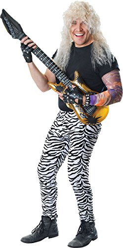 Men's 80's Disco Rock & Roll Fancy Party Costume Accessory Zebra Print (Party Rock Zebra Costume)