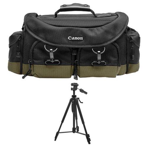 Canon 1EG Digital SLR Camera Case Gadget Bag + Tripod for EOS 6D, 70D, 7D, 5DS, 5D Mark II III, Rebel T3, T3i, T5, T5i, T6i, T6s, SL1 DSLR by Canon