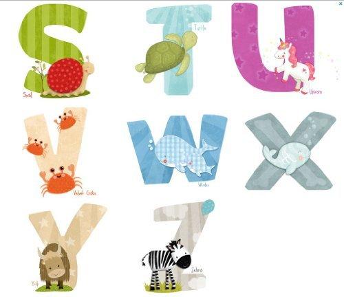 Lil Cloud Designs Original Art Animal Alphabet Wall