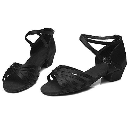 Donna Sala samba Ballo Da Raso 202 Leather I chacha Scarpe Nero Latino Hroyl qwPdCO6q