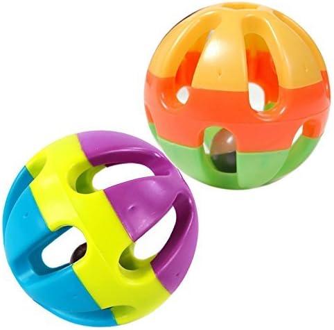 J*myi - Pelota para perro, juguete colorido con forma de cascabel ...