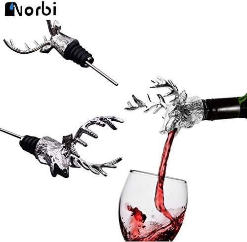 European Style Luxury Spot Metal Deer Head Wine Red Wine Pourer Romantic Personalized Wine Stopper Custom Bottle Opener