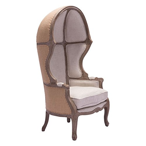 Zuo Ellis Occasional Chair, (Carved Oak Finials)