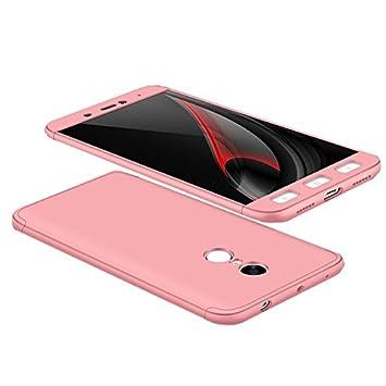 Funda Xiaomi Redmi Note 4 (No para la versión global), 360 Grados Integral Carcasa Cuerpo Completo Caso Cubierta, 3 en 1 Híbrido Anti-Choque Snap On ...