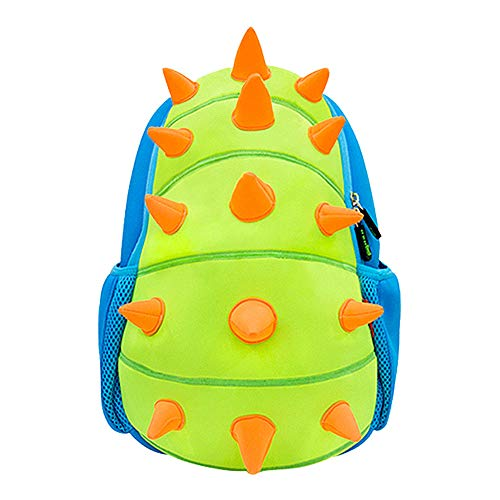NOHOO Kids Dinosaur Backpack 3D Toddler Backpacks For Boys And Girls 2-7 Years (Green)