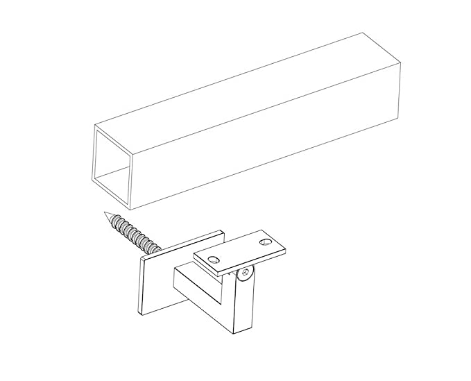 Stainless Steel Handrail Wall Bracket Square For Flatcurved Bottom