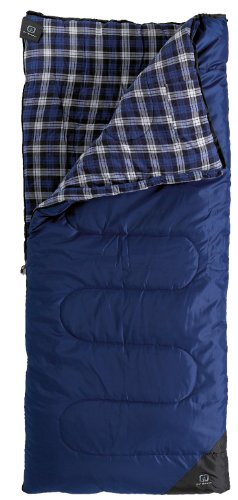 Outbound Laurentian Series 10 Degree Synthetic Rectangular Sleeping Bag (Blue, Medium)