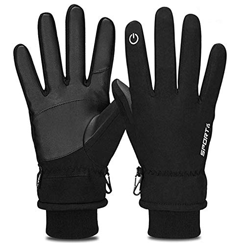 (Yobenki Winter Gloves, -20°F(-28°C) Touch Screen Thermal Gloves Windproof Cuff Gloves)