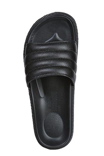 Sandal Overfoot Rippled Toe Beach Black Mens J Fiallo Open Slide TqtB8tw