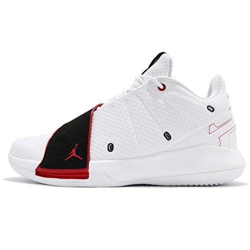 official photos a09ec 3d5ec Jordan Men s CP3.XI, White University RED-Black, ...