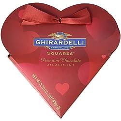 Ghirardelli Valentine's Chocolate Squares Premium Chocolate Assortment 3.78