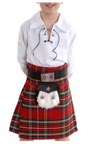Boys Kilt Poly-viscose Royal Stewart Tartan option 9 to 10 years old -