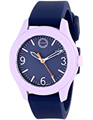ESQ Movado Womens 07101452 One Stainless Steel Watch with Navy Silicone Band