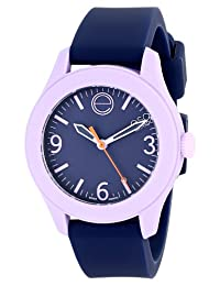 "ESQ Movado Women's 07101452 ""One"" Stainless Steel Watch with Navy Silicone Band"