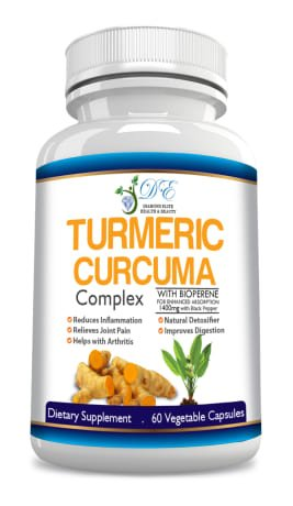 Diamond Elite's Premium TURMERIC CURCUMA - NEW FORMULA now with 1400mg with BIOPERIN - RELIEVES MUSCLE & JOINT PAIN & INFLAMATION! 100% Money Back Guarantee!