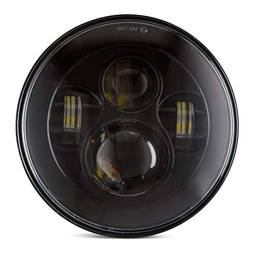 ANR 7 LED Headlight compatible For Harley Davidson MOTORCYCLE BLACK HID PROJECTOR LED LIGHT BULB compatible for Jeep Wrangler JK LJ CJ LED Headlamp
