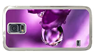 Hipster Samsung Galaxy S5 Cases discount flower pink water drop PC Transparent for Samsung S5