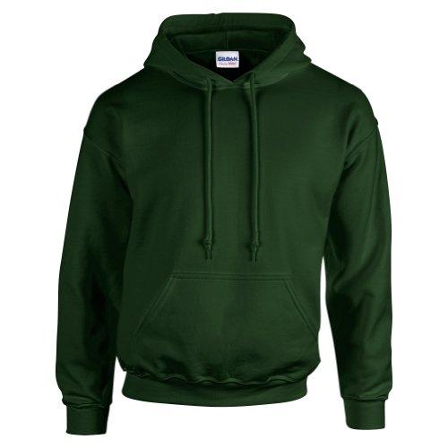 Edwards ropa cuello abierto de las mujeres 3/4Manga Solapa estrecho Popelina blusa verde (Forest green)