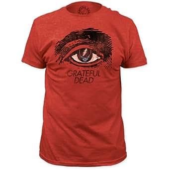 Grateful Dead - Mens Grateful Eye Fitted T-Shirt, Medium, Heather Red