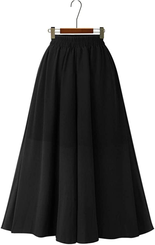 Proumy Falda de Gasa Sólida Verano Mujer Vestido Largo de Tul ...