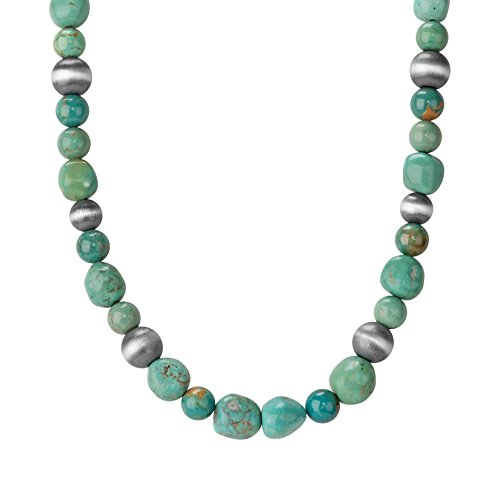Jennifer Nettles Sterling Silver Green Turquoise Beaded Necklace