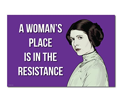 Princess Leia  A Womans Place In The Resistance  Feminist  Anti Trump  Carrie Fisher  Star Wars  Poster  Medium 18 X12   Purple