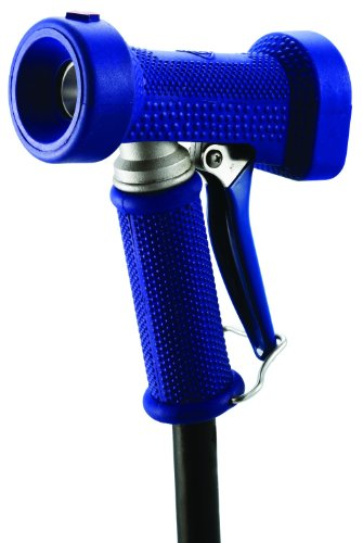 T&S Brass MV-2516-22 Water Gun with Rear Trigger, 5/16-Inch Orifice, 3/4-Inch Coupling, Stainless Steel and Blue Rubber Cover