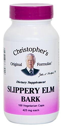 Christophers Slippery Elm Bark - 425 Mg - 100 Vegetarian Capsules