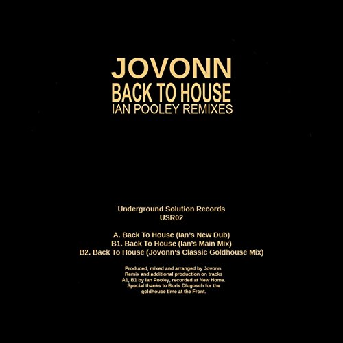 Back To House  Jovonns Classic Goldhouse Mix